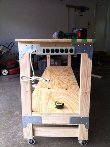 build  heavy duty workbench woodworking crafts