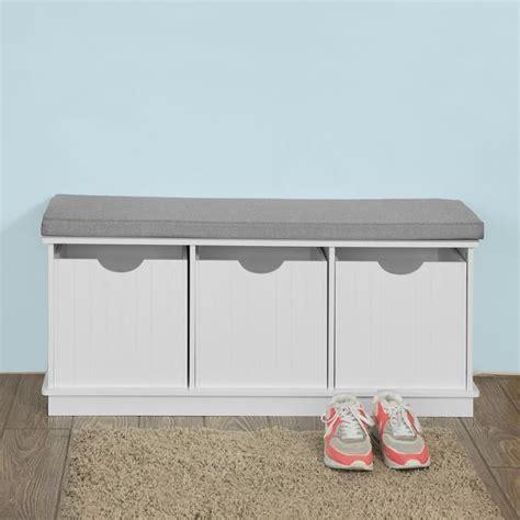 meuble bas cuisine 120 cm sobuy fsr30 w banc de rangement meuble d 39 entrée à