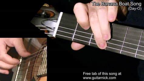 Banana Boat Song Guitar Tab by The Banana Boat Song Fingerstyle Tab Acoustic Guitar