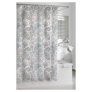 kassatex paisley shower curtain blue grey target