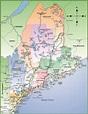 Map of Maine coast