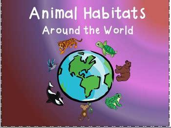 animal habitats powerpoint editable  stylin