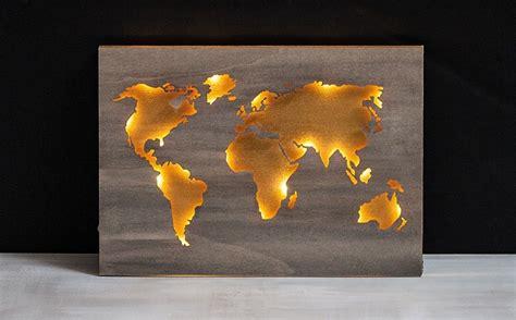 Bastelideen Fuer Idock Aus Holz by Holz Weltkarte Beleuchtet Bastelidee Rayher