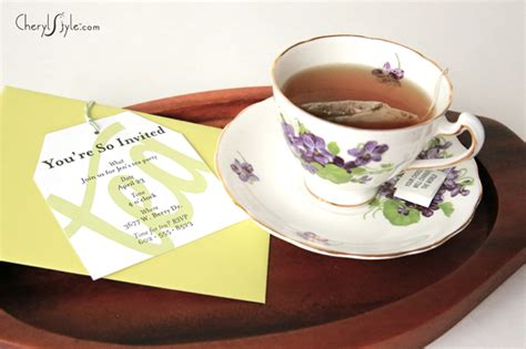 Printable tea party invitations – Everyday Dishes & DIY