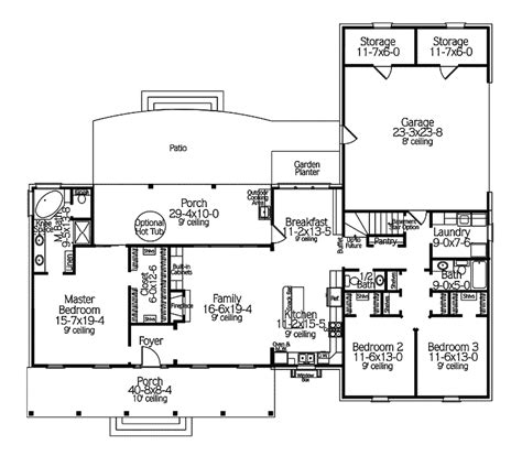 house plans and more unique house plans and more 4 country ranch house floor