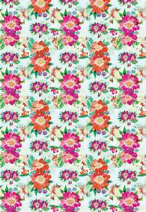 Bright Blooms Printable Wrapping Paper