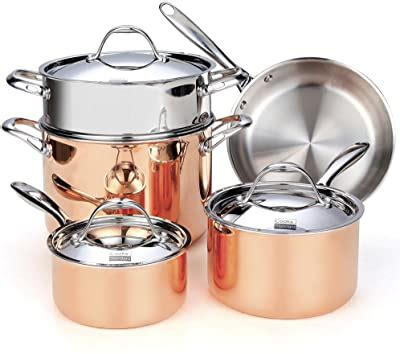 amazoncom wearever  cook  strain stainless steel cookware set  piece silver
