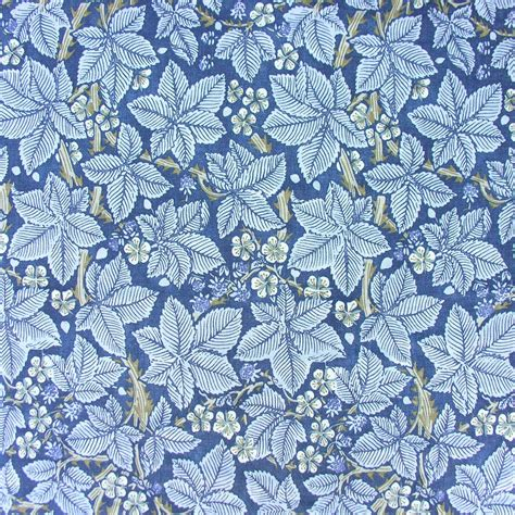 william morris linen cloth print bramble blue