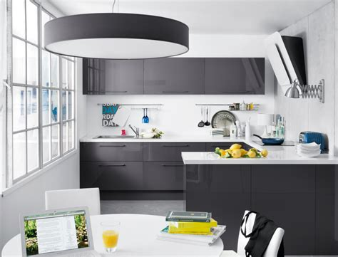 cuisine meuble gris awesome meuble de cuisine gris et blanc images seiunkel