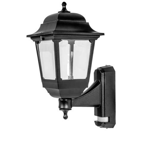 asd 4 sided coach lantern 100w 100w bc black pir