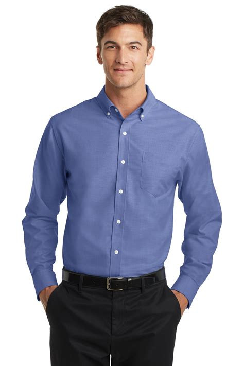 port authority s658 button shirt superpro oxford