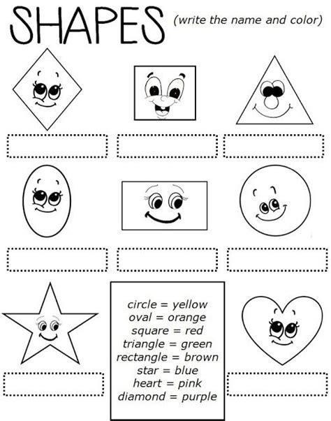 enjoy teaching shapes worksheet classroom