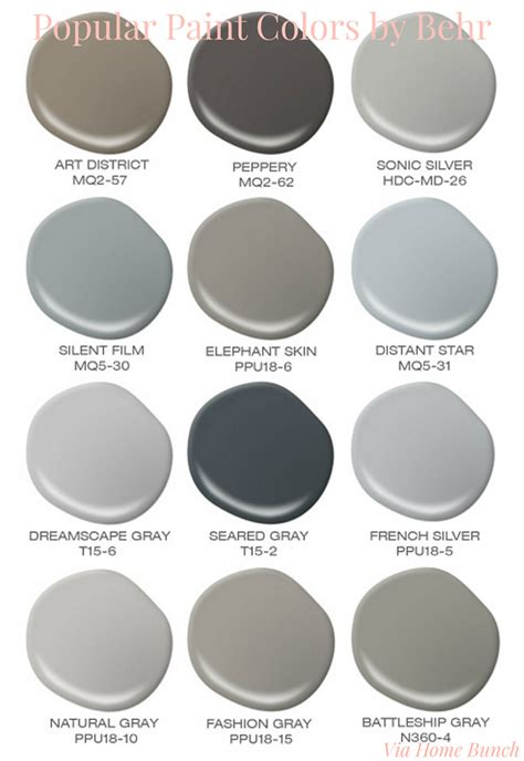 popular paint colors paint color palette interior design ideas home bunch