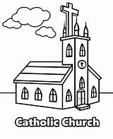 Church Catholic Coloring Christian Drawing Getdrawings sketch template