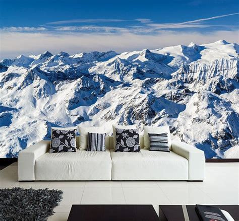 alps wall mural europes alps mountain winter scene