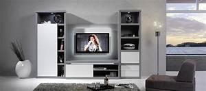 Meuble TV Bibliothque Composable Contemporain EQUINOX