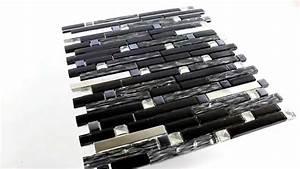 Mosaik Fliesen Schwarz : edelstahl metall glas mosaik fliesen diamant schwarz mix youtube ~ Eleganceandgraceweddings.com Haus und Dekorationen