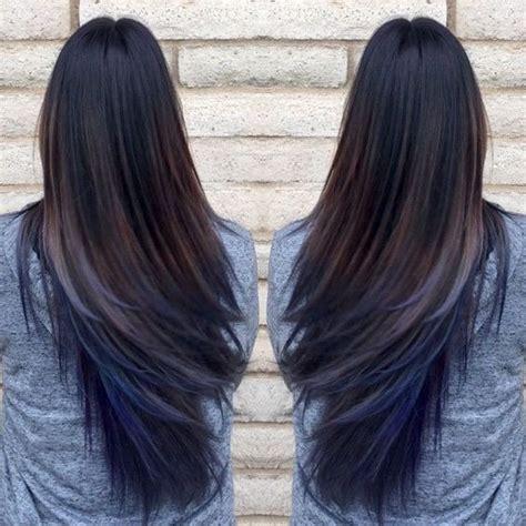 Image Result For Pic Of Blue Streak In Dark Hair Hair In