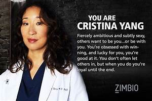Which 'Grey... Cristina Yang Cookie Quotes