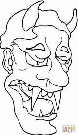 Demon Coloring Pages Sad Demons Female Printable Drawing Devils Coloringpages101 Sketch Mythology Chibi Paper Template sketch template