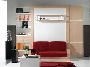 Image gallery lit armoire for Armoire lit escamotable avec canape