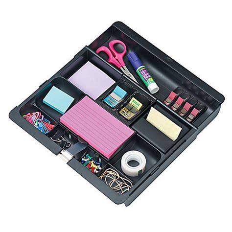 desk organizer tray 3m desk drawer organizer black by office depot officemax