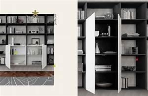 Bibliothèque Avec Porte : biblioth que design suspendue unique moretti compact so nuit ~ Teatrodelosmanantiales.com Idées de Décoration