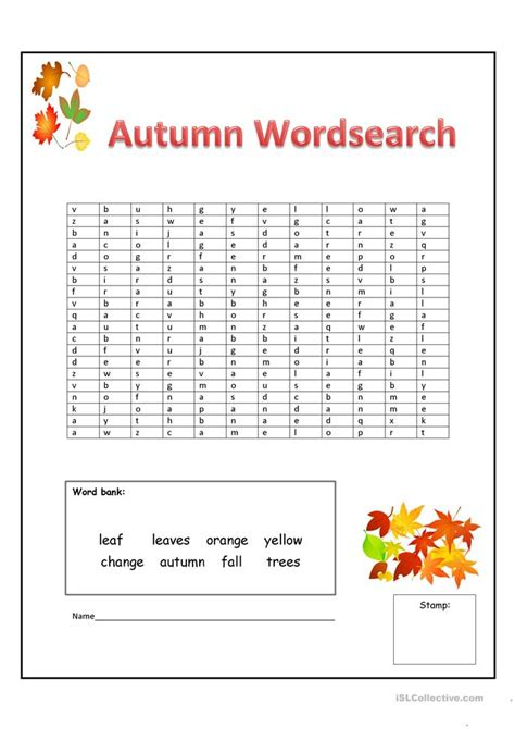 fall worksheets for elementary school autumn worksheet free esl printable worksheets made by