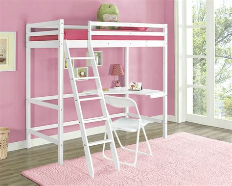 Ebay Bunk Bed With Desk by High Sleeper Cabinbed With Desk White Wooden Bunk Bed