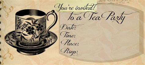 high tea invitation templates