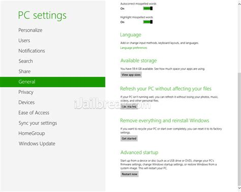 reset phone to factory settings how to restore windows 8 to reset it to factory settings