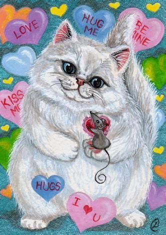 valentine persian cat mouse lynne oliver valentines