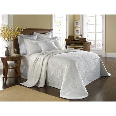 Matelasse Coverlet King Size by Historic Charleston King Charles Matelasse Bedding