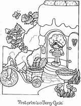 Coloring Strawberry Shortcake Colorear Rainbow Cake Adult Angel Imagixs Guardado Desde Laminas sketch template