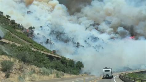 grizzly creek fire burning  glenwood canyon newscom