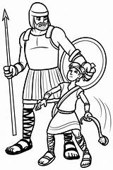 David Goliath Coloring Pages Testament Bible Books Quiet Printable Purpose Clipart Print Children Sunday Story Sheets Easy Clip Characters Pinning sketch template
