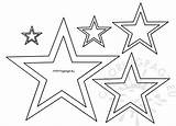 Star Different Stencil Template Coloringpage Eu Coloring Christmas sketch template