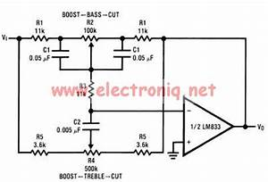 lm833 based tone control circuit circuit diagram world With tone circuit