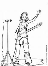 Coloring Singer Pages Guitar Rock Job Female Hellokids Drawing Manning Eli Sheet Sheets Discover Print Clipart Singers Printable Colouring Star sketch template
