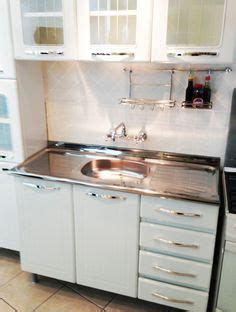 Cheap Stainless Steel Bathroom Cabinets by Vintage Retro Metal Kitchen Cabinet Cast Iron Sink Ebay