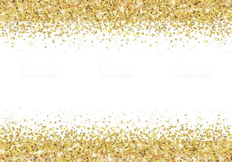 gold glitter frame  white background stock illustration