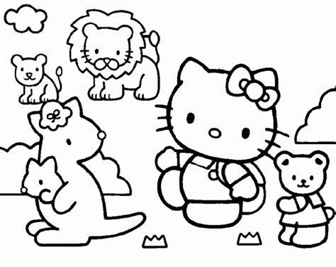 45 Ausmalbilder Zum Ausdrucken Hello Kitty