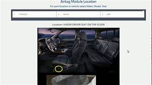 Cadillac Srx Airbag Module Location