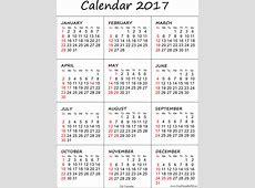 2017 Calendar Uk printable 2017 calendars