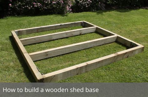 how to build a shed foundation how to build a wooden shed base waltons waltons sheds