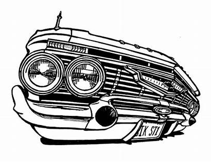 Coloring Impala Lowrider Chevy 1961 Chevrolet Drawings