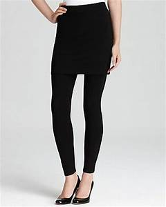 Eileen Fisher Viscose Jersey Skirted Ankle Leggings in Black   Lyst