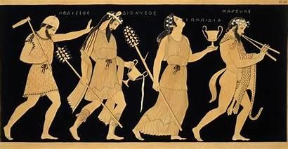 Dionysus Vase Illustration Figures Greek Antique Century