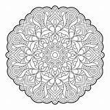 Coloring Mandala Pages Geometry Mandalas Para Colorear Adult Sacred Geometric Patterns Books Colouring Printable Dificil Outline Molecule Adults El Bold sketch template