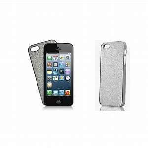 Coque Iphone 5 : coque iphone achat coque iphone 5 rigide paillettes argent pas cher ~ Teatrodelosmanantiales.com Idées de Décoration